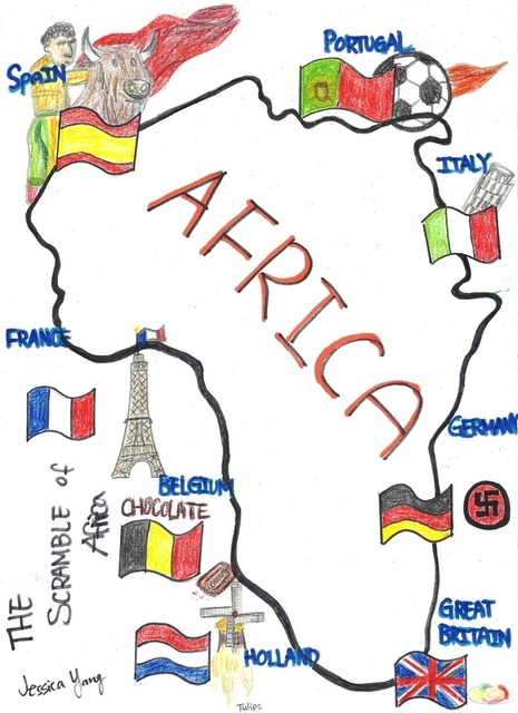 Political Cartoon Scramble For Africa Pictures to Pin on ...